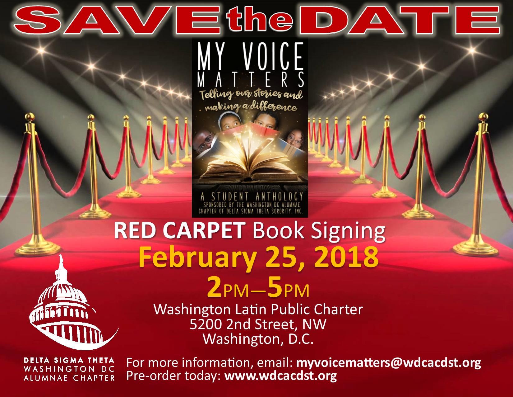 Red Carpet Book Signing