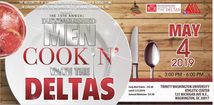 Distinguished Men Cookin' with the Deltas | May 4