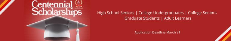 Centennial Scholarships | Mar. 31